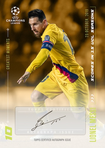 2020 Topps Lionel Messi Champions League Soccer Cards 5