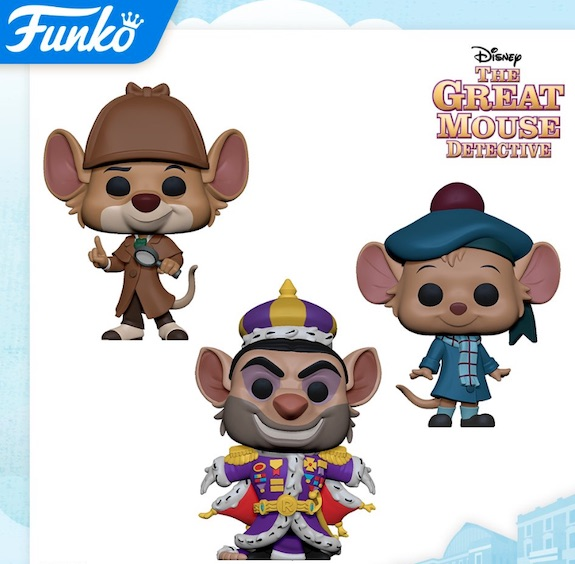 Funko Pop Great Mouse Detective Figures 1