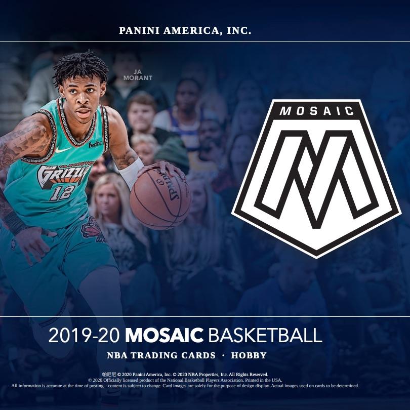 2019-20 Panini Mosaic NBA Basketball Trading Cards Mega Box 80 Cards *INHAND*