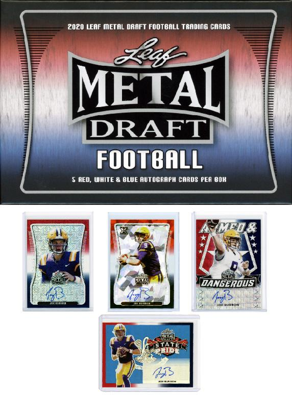 2020 Leaf Metal Draft Football Cards 5