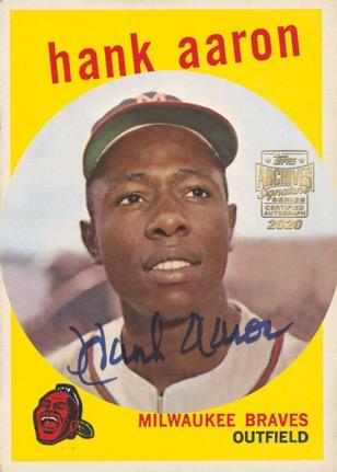 2020 Topps Archives Signature Series Retired Player Edition Baseball Cards - Checklist Added 3