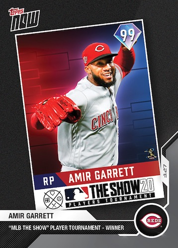 2020 Topps Now Baseball Cards - MLB The Show Players Tournament 1
