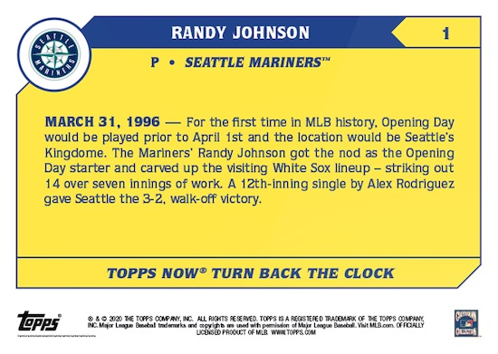 2020 Topps Now Turn Back the Clock Baseball Cards Checklist Guide 2