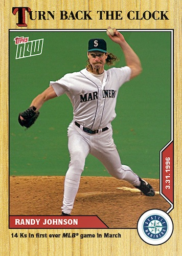 2020 Topps Now Turn Back the Clock Baseball Cards Checklist 1