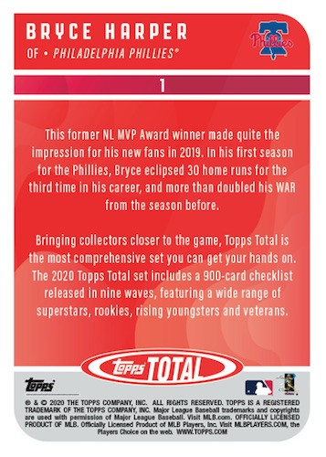 2020 Topps Total Baseball Cards - Wave 6 Checklist 2