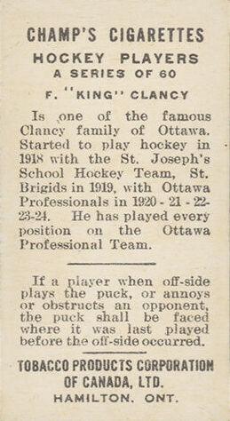 1924-25 C144 Champ's Cigarettes Hockey Cards 2