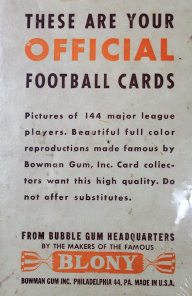 1951 Bowman Football Cards 3
