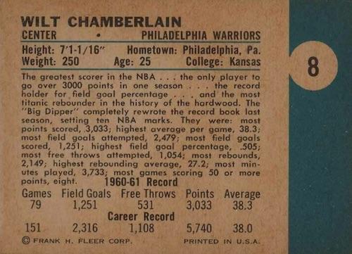 1961-62 Fleer Basketball Cards 2