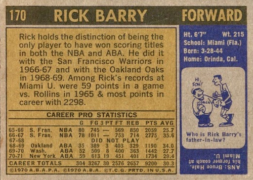 1971-72 Topps Basketball Cards 2