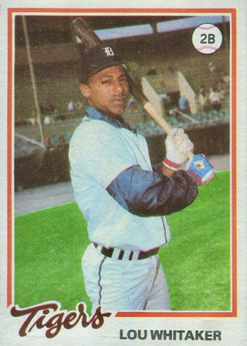 Top 10 Lou Whitaker Baseball Cards 9
