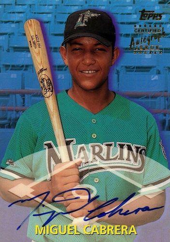 Top 10 Miguel Cabrera Baseball Cards 11
