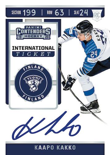2019-20 Panini Contenders Hockey Cards 2