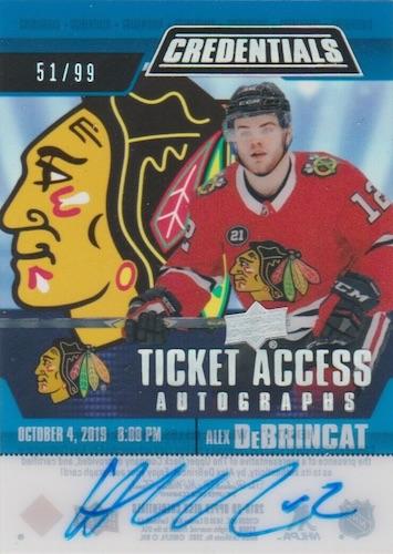 2019-20 Upper Deck Credentials Hockey Cards 16