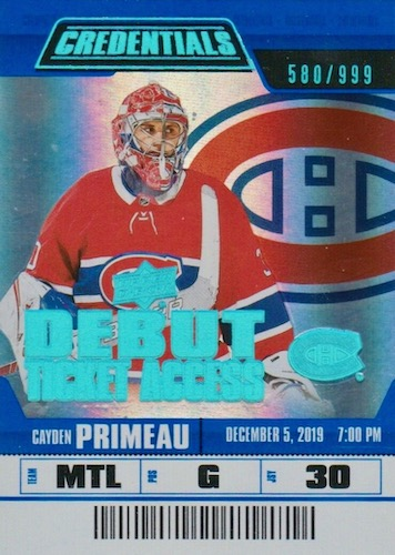 2019-20 Upper Deck Credentials Hockey Cards 13