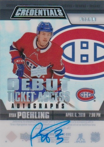 2019-20 Upper Deck Credentials Hockey Cards 15
