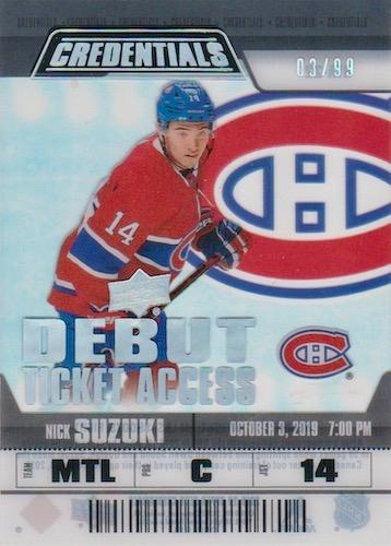 2019-20 Upper Deck Credentials Hockey Cards 19