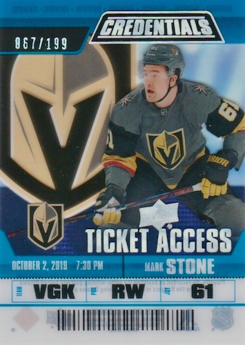 2019-20 Upper Deck Credentials Hockey Cards 20