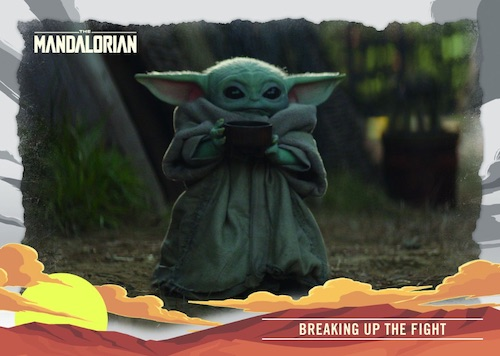 2020 Topps The Mandalorian Journey of the Child Trading Cards 3