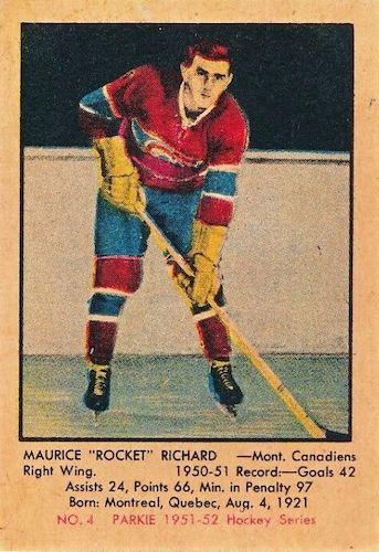 1951-52 Parkhurst Hockey Cards 3