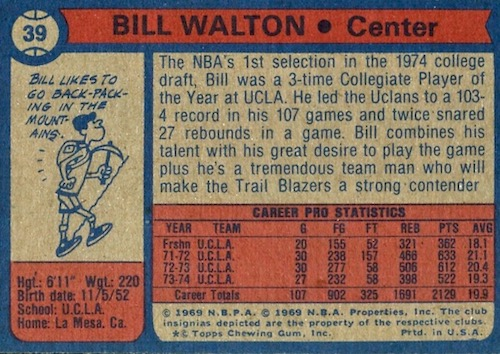 1974-75 Topps Basketball Cards 2