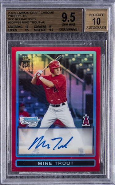 Top Mike Trout Card Sales of 2020 2