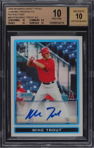 Gone Fishin' for the Top Mike Trout Card Sales of 2020 7