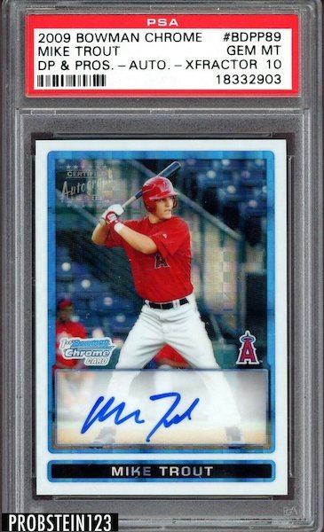Gone Fishin' for the Top Mike Trout Card Sales of 2020 8