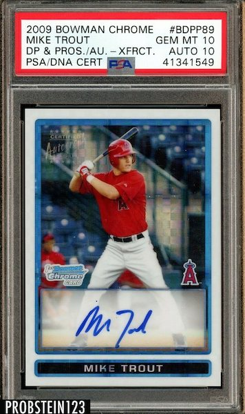 Gone Fishin' for the Top Mike Trout Card Sales of 2020 9