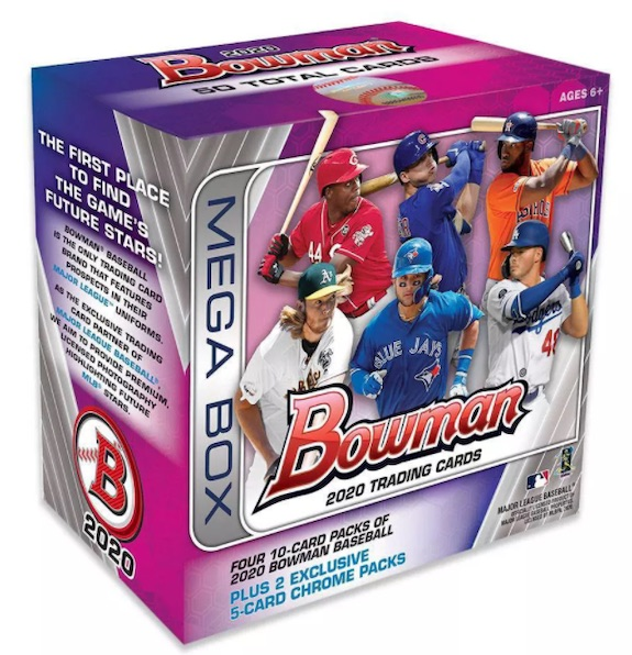 2020 Bowman Mega Box Chrome Baseball Cards 4