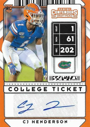 2020 Panini Contenders Draft Picks Football Cards 10