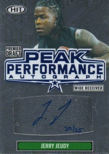 2020 Sage Hit Premier Draft High Series Football Cards 6