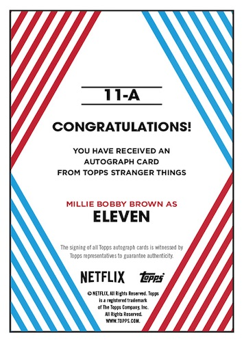 2020 Topps Stranger Things Autograph Collection Trading Cards 2