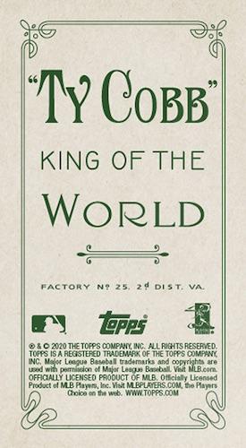 2020 Topps T206 Baseball Cards - Series 4 Checklist 2