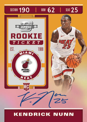 2019-20 Panini Contenders Optic Basketball Cards - Checklist Added 3