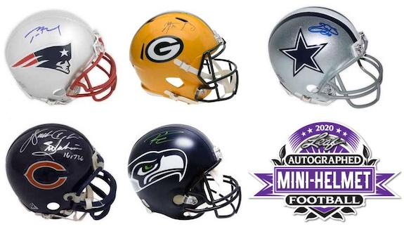 2020 Leaf Autographed Football Mini-Helmet Edition 3