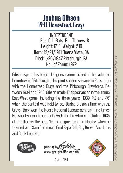 2020 Negro Leagues Legends Baseball Cards 4