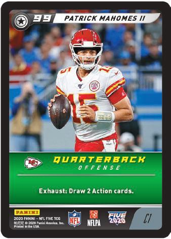 2020 Panini NFL Five Trading Card Game Football Cards - Checklist Added 3