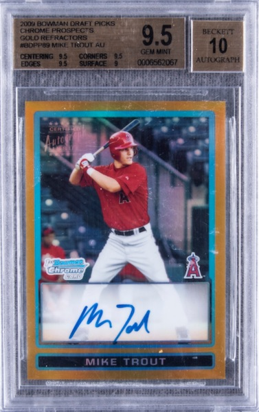 Top Mike Trout Card Sales of 2020 13