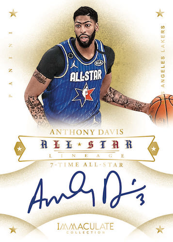 2019-20 Panini Immaculate Collection Basketball Cards - Checklist Added 7