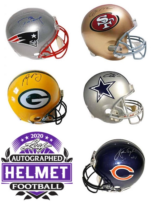 2020 Leaf Autographed Football Helmet Edition 1