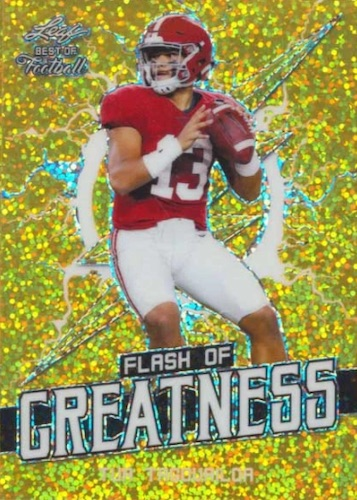 2020 Leaf Flash of Greatness Football Cards 1