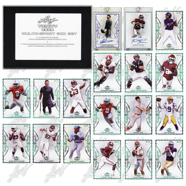 2020 Leaf Trinity Multi-Sport Box Set Trading Cards - Checklist Added 3