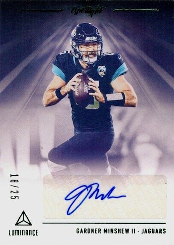 2020 Panini Luminance Football Cards 10