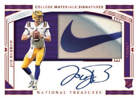 2020 Panini National Treasures Collegiate Football Cards - Checklist Added 4