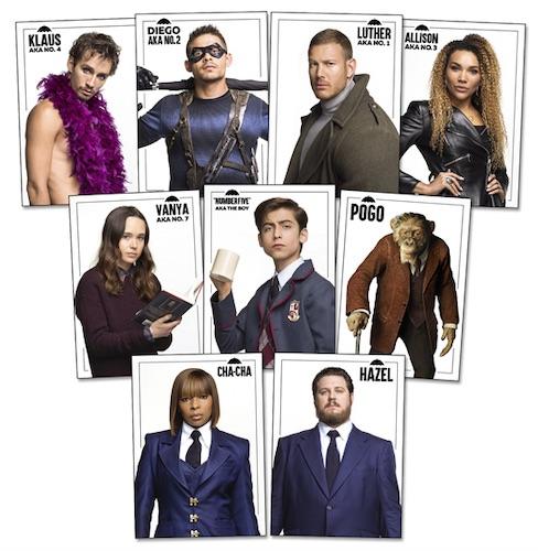 2020 Rittenhouse Umbrella Academy Season 1 Trading Cards - Collector's Set 3
