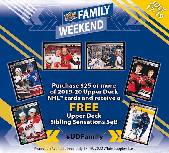 2020 Upper Deck Sibling Sensations Family Weekend Hockey Cards - Checklist Added 1