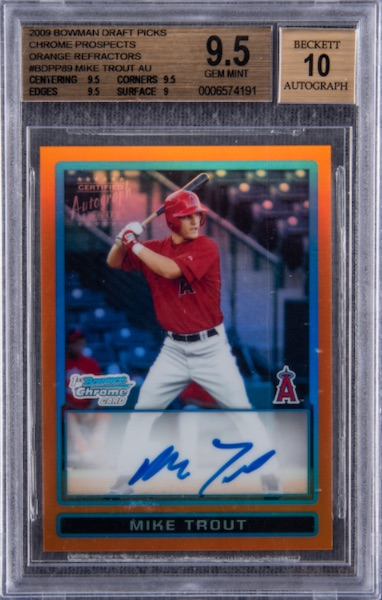 Top Mike Trout Card Sales of 2020 8