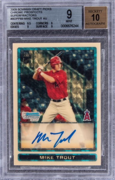 Top Mike Trout Card Sales of 2020 1