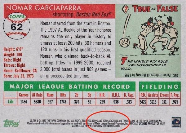 2020 Topps Archives Baseball Variations Guide 3