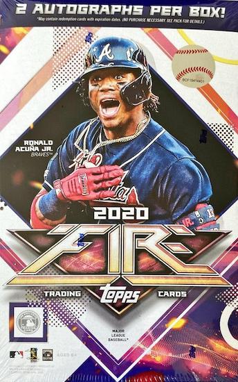2020 Topps Fire Baseball Cards 4